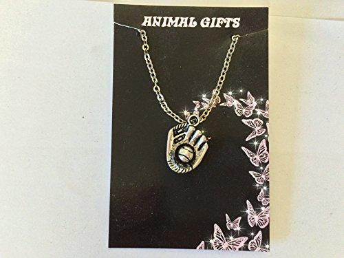 Tibetischen Silber Baseball Handschuh platiniert 45,7cm Kette Halskette handgefertigt sehr feine Details kommt mit Retail Verpackung CH80