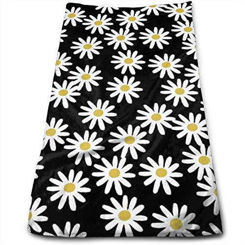 YudoHong Toallas de Mano Love Daisy Floral Cotton, Ideales para Uso Diario
