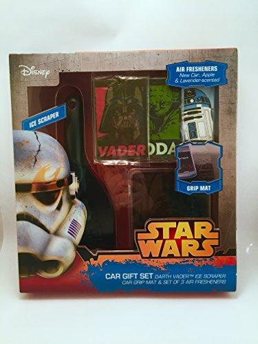 Oficial de Star Wars Rascador de hielo Alfombrilla de agarre y ambientadores coche Presente Set de r