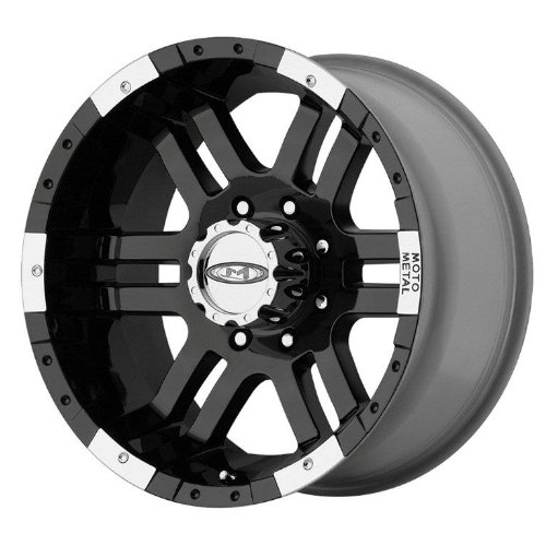 Moto Metal MO951 Gloss Black Wheel With Machined Face (17x9'/6x139.7mm, -12mm offset)