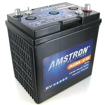 Amstron GC2 6V AGM Golf Cart Marine RV Battery