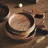 Placas de postre Pequeña placa de postre de madera linda mini peces fruta de sushi placa de inmersión plato plato madera taza coaster taza estera utensilios de madera utensilios vajilla Pequeñas placa