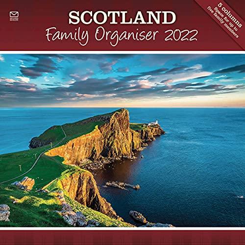 Scotland Family Organiser Square Wall Planner Calendar 2022