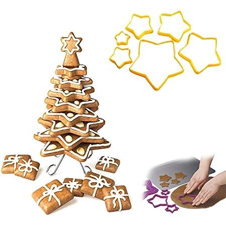 Guanici 18 Piezas Moldes para Galletas Navidad 3D Juego De Cortadores De Galletas De Navidad para tartas navide/ñas y tartas decorativas Decoraciones para tartas Galletas Hornear Accesorios de cocina