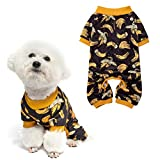 Soft Dog Pajamas - Adorable Dog Apparel Jumpsuit, Cute Pet Clothes Dog Pjs with Fruit Pattern, Fashionable Lightweight Puppy Jumpsuit for Small Medium Dog Wearing - Banana