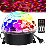 Memzuoix Disco Ball Party Lights Strobe Lamp with 6 Colors Sound Activated, Big-Size Magic Stage Party Light with Remote Control, Halloween Decorations Bar Wedding Home Club