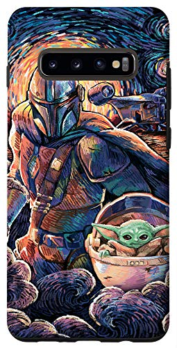 Galaxy S10+ Star Wars: The Mandalorian & The Child Starry Night Style Case