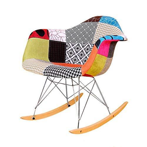 MOZUSA Mecedora Mecedora Rocker Relax Tumbona de sillón reclinable Silla de relajación for Homfl Oficina o Relajarse Silla (Color: Color, Tamaño: 68x69x62cm)