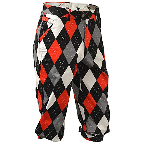 Royal & Awesome Men's Golf Knickers, Diamonds in The Rough, 36