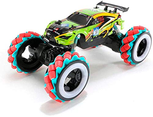 Julykai Desarrollar sabiduría 360 ° Rotating Drift Stunt Car 2.4G Detección de Gestos Control Remoto Car 4WD Off-Road RC Buggy Carga con luz RC Buggy Big Foot Monster Regalos-C