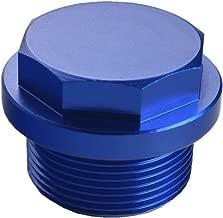Dewhel JDM Aluminum Coolant Thermostat Plug For GM 2001-2010 Duramax 6.6L Diesel LB7 LLY LBZ LMM (Blue)
