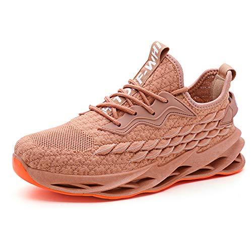 LIZHAIMING Entrenador para Hombre Zapatos para Correr Deportes De Moda Zapatillas De Deporte con Forma De Escamas De Pescado Que Absorben Los Golpes para Jogging Fitness Atlético Zapatillas,42