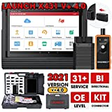 LAUNCH X431 V+ PRO 4.0 (2021 Upgrade Elite of X431 V PRO & PRO3S+) Bi-directional Scanner Full System Diagnostic Tool, 31+ Reset Functions, ECU Coding, Guided Function, Full Connector Kits Free Update