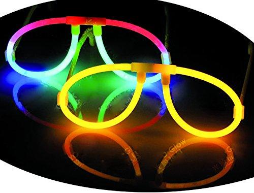 Firestars GIRM® - G15-1G-14 (kit10pz) Occhiali Fluo Party, Occhiali Luminosi per Feste, Occhiali per...