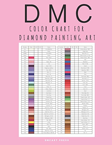 DMC Color Chart for Diamond Painting Art: Complete DMC Color Card Book for Women