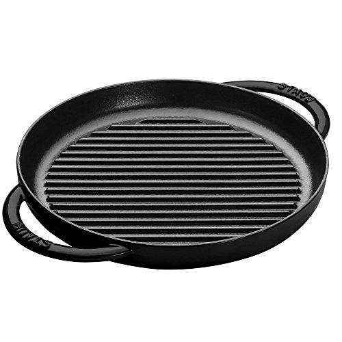 STAUB Cast Iron Grill Pan, 10-inch