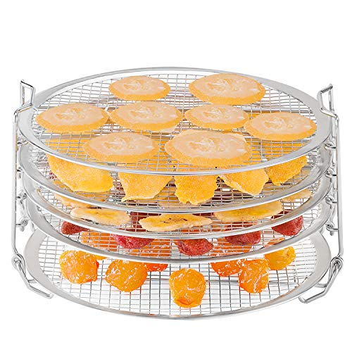 Check Out This Dehydrator Stand for Ninja Foodi Accessories 6.5 qt 8 qt Stainless Steel Dehydrating ...