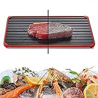 解凍プレート 解凍トレイ 急速解凍プレート 冷凍肉用大型ボード 航空合金材質で 自然的に食べ物を解凍させ 普通の解凍板より速く解凍できます 海鮮 肉類 ステーキの快速解凍皿 家族に新年の贈り物をする,S