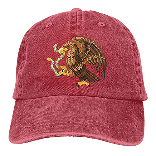 Bokueay México Deportes Gorra de Mezclilla Ajustable Snapback Unisex Llanura Sombrero de Vaquero de béisbol Estilo clásico