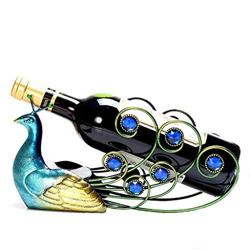 GUOCAO Personalidad Estante del Vino del Estante del Vino decoración Estante de exhibición del Estante de la Botella de Vino decoración del hogar del Marco 30x10x17cm Estantería de Vino