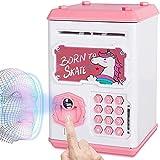 Lipeed Hucha electrónica para niños, hucha para niños, hucha para dinero en efectivo, hucha con huellas dactilares y bloqueo de contraseña para niños y niñas
