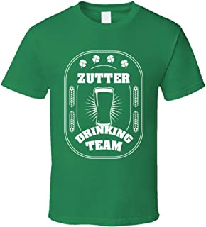Zutter Drinking Team St. Patrick's Day Last Name Group T Shirt