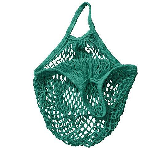 Bolsa de malla lavable, bolsas de malla reutilizables transparentes, bolsas de producción reutilizables, bolsas ecológicas para almacenamiento de alimentos, frutas, verduras y juguetes verde