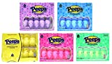 Easter Marshmallow Chicks Peeps Variety Pack 50 Ct, 5 Pack from