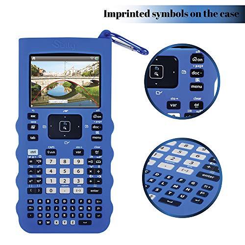 Sully Silicone Skin for Ti Nspire CX/CX CAS Handheld (Blue) w/Screen Protector - Silicon Cover Case for Ti-Nspire CX Hand held Graphing Calculator - Protective & Anti-Scretch Skins & Screen Covers Photo #4