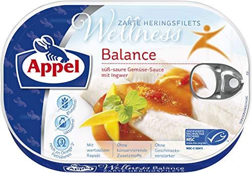 Appel Heringsfilets Wellness Balance, 10er Pack Konserven, Fisch in süß-saurer-Sauce