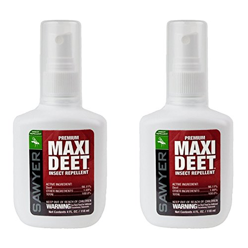 Sawyer Products SP7142 Premium Maxi-DEET Insect Repellent Pump Spray, Twin Pack, 4-Ounce