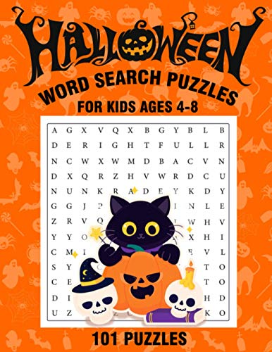 HALLOWEEN WORD SEARCH PUZZLES FOR KIDS AGES 4-8 : 101 PUZZLES: Large Print Word Search Puzzle Book For Kids | Perfect Kids Gift Idea Happy Halloween 2020