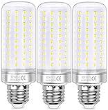 HZSANUE LED Maíz Bombilla 26W, E27 Tornillo Edison Bombilla,200W Incandescente Bombilla Equivalentes, 6000K Blanco Frío, 2600lm, 3 Pack