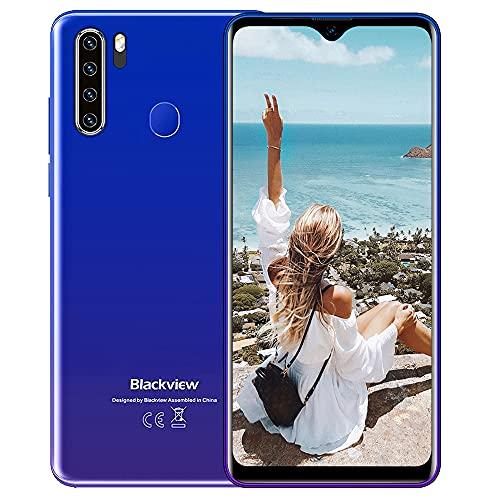 """Smartphone Offerta, Blackview A80 Plus Cellulari Offerte, Android 10 Octa-core 4GB+64GB, 6.49"""" 19:9 HD+ Schermo, 4680mAh, Fotocamera 13MP+8MP, 4G Dual SIM/NFC/OTG/Sblocco dell'impronta+Face ID - Blu"""