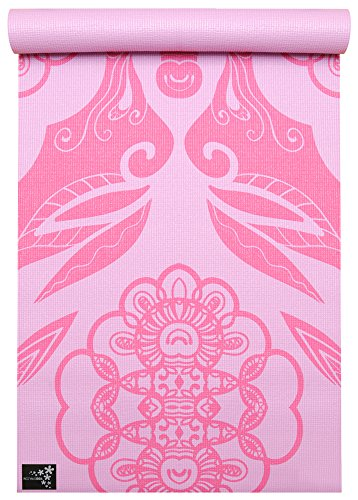 Yogistar Basic Art Collection Yogamatte, Ethnic Rose, One Size