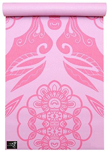 Yogistar Basic Art Collection Yogamatte, Ethnic Rose, One Size