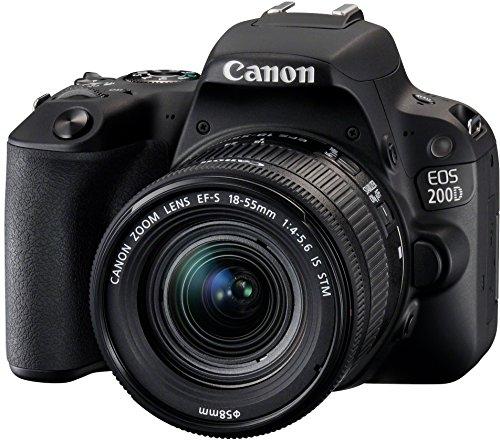 Canon EOS 200D + EF-S 18-55mm f/4-5.6 IS STM + EF 50mm f/1.8 STM Juego de cámara SLR 24,2 MP CMOS - Cámara digital (24,2 MP, 6000 x 4000 Pixeles, CMOS, Full HD, Pantalla táctil, Negro)