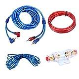 CAR WGJ YH-128 1200W Auto-Verstärker Audio-Stromkabel Subwoofer Verkabelung Installation Kit mit Hochleistungs-RCA-Verknüpfungs