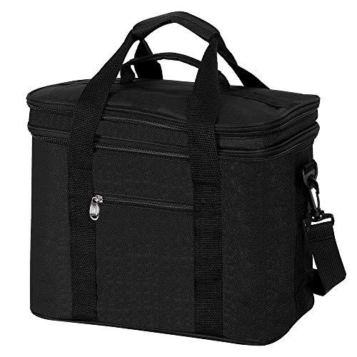 COOTA 20L Isoliertasche Lunch Taschen mit Große Kapazität and faltbar, Isolierte Schultertaschen, Kühltasche Lunchbox mit Deckel zum Öffnen