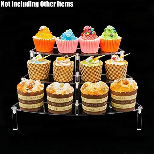 Tingacraft 3 Schritt Klare Acryl Display Riser (34x20.5x19.5cm) für Fugurines Kosmetik Dessert