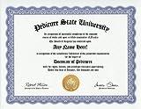 Pedicure Degree: Custom Gag Diploma Doctorate Certificate (Funny Customized Joke Gift - Novelty Item)