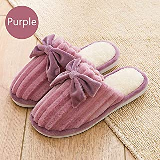 YANGLAN Winter cotton slippers New version of home cotton slippers non-slip soft bottom slippers warm and comfortable cotton drag men and women slippers Household slippers