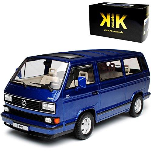 KK-Scale Volkwagen T3 Bus Multivan Blau Transporter 1979-1992 limitiert 1 von 1750 Stück 1/18 Modell Auto