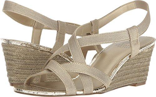 Adrianna Papell Womens Alba Platino Elastic Espadrilles Size 7.5