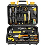 DEKOPRO 100 Piece Home Repair Tool Set,General Household Hand Tool Kit with Plastic Tool Box Storage…