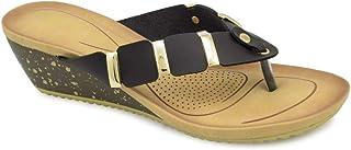 tresmode Women's Black Fashion Sandals