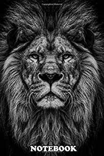Notebook: Wild Lion Head Wallpaper , Journal for Writing, College Ruled Size 6