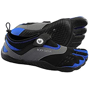 Body Glove Men's 3T Barefoot Max Water Shoe, Black/Dazzling Blue, 13