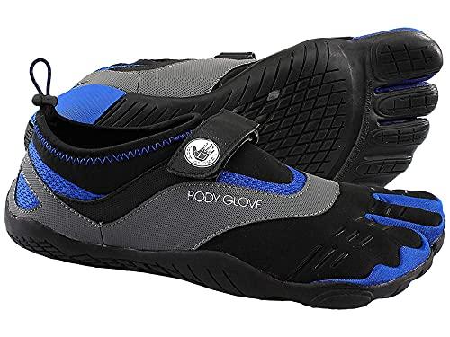 Body Glove Men's 3T Barefoot Max Water Shoe, Black/Dazzling Blue, 9