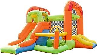 YBWEN Castillos hinchables Patio Inflable de Salto de Cama abatible Cama Inflable Salto de los niños Castillo Inflable Castillo Inflable (Color : Orange, Size : 385x255x230cm)